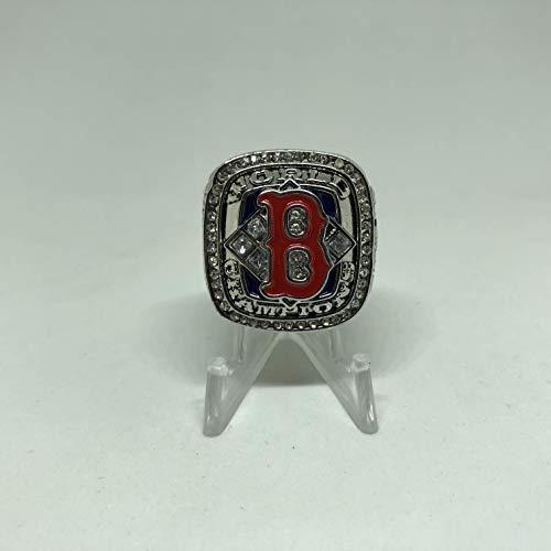 2004 David Ortiz #34 Boston Red Sox High Quality Replica 2004 World Series Ring Size 10.5 -Silver ()