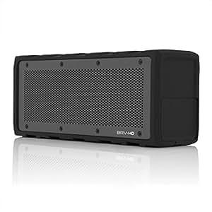 BRAVEN BRV-HD Wireless Bluetooth Speaker [28 Hour Playtime][Water Resistant] Built-in 8800 mAh Power Bank Charger - Black