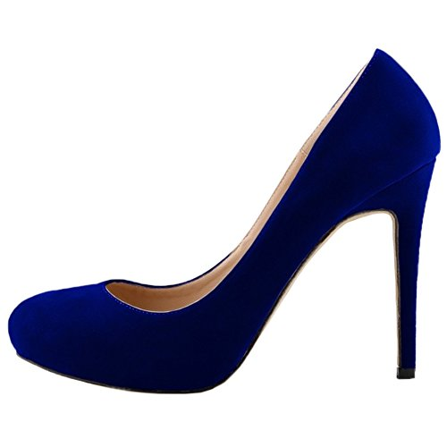 Dress Platform 1 Shoes Pumps High Pumps On Women's Slip Wedding Blue Heel HooH wRpqXEp