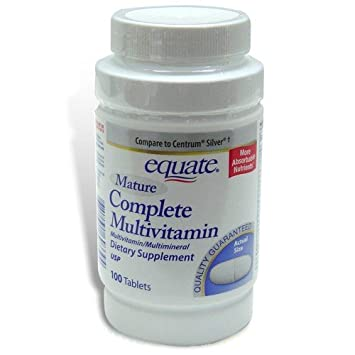 Will not equate mature multivitamin for that