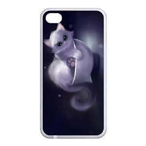 Custom Cat Back Case for iphone4,4S JN4S-099