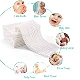 Muslin Burp Cloths for Baby 10 Pack 100% Cotton