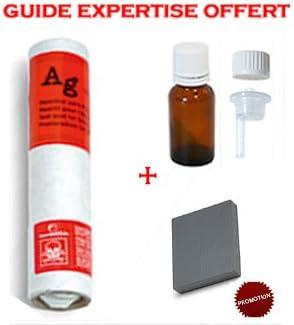 Acier en verre  Réf 61000 Flacon Réactif testeur Or Argent