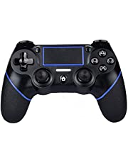PS4 Controller Wireless Gamepad for PS4/PS4 Slim/PS4 pro/PC with USB Charge Cable with Dual Vibration, Clickable Touchpad, Audio Function, Light Bar and Anti-Slip…