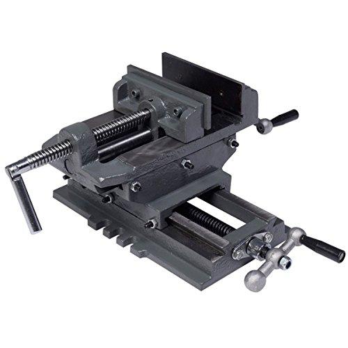 "New 5"" Cross Drill Press Vise X-Y Clamp Machine Slide Metal"