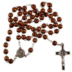 WOOD BROWN CATHOLIC Rosary Prayer Brown CORD Rope ROSARY ...  |Brown Rosaries