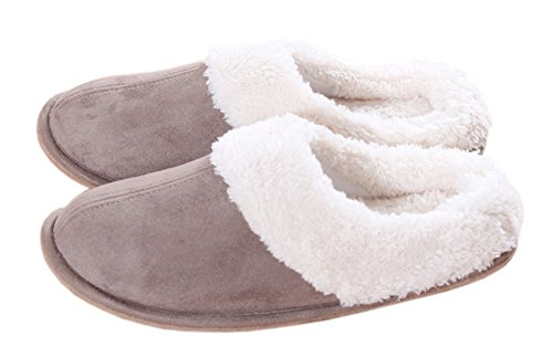 Soft Fleece Indoor House Slippers Warm Skid-proof Clog Slippers Slip on Mule Footwear