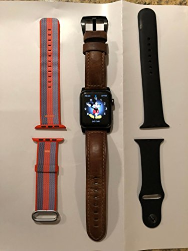 New Apple Series 2 Watch for iPhone - 42mm Space Gray Aluminum Case with Black Sport Band