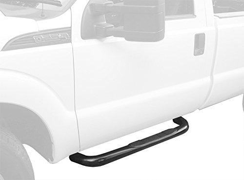 2pcs with Mounting Bracket Kit MaxMate Custom Fit 1999-2016 Ford F250//F350//F450//F550 Super Duty Regular Cab Black 3 Side Step Rails Nerf Bars Running Boards