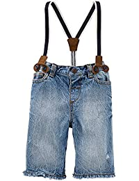 Baby Boys Shorts With Suspenders