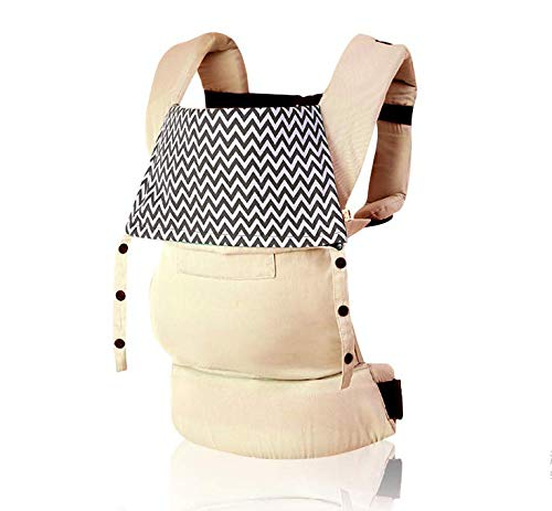 OPYUT Baby Shoulder Strap Front Shoulder Type Waist Waist Stool Four Seasons Versatile Multifunctional Newborn Baby Portable Baby Belt(Khaki)