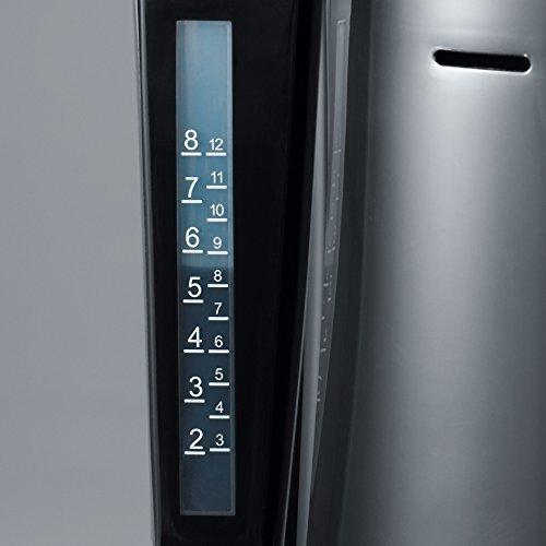 8 tazas incluye 2 jarras termo SEVERIN KA 9482 Cafetera para filtros de Caf/é Molido negro//plateado