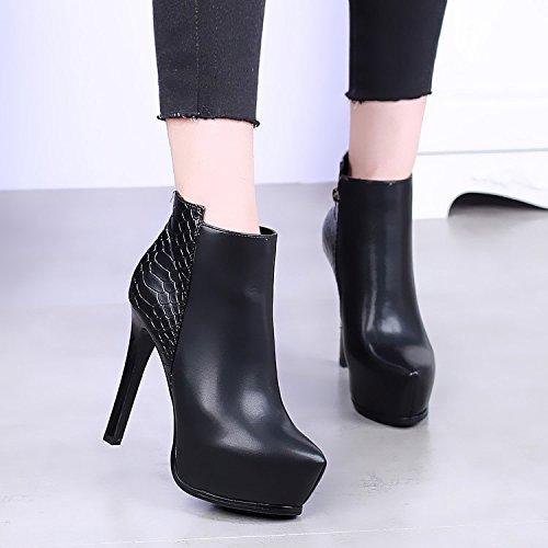 KHSKX-Europa Und Die Vereinigten Staaten Und Super Wies Schuhe Schuhe Schuhe Mit Hohen Absätzen Wasserdichte Schuhe Mit Dünnen Sexy Nackt - Stiefel Stiefel Martin Flut 2335c7