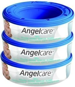 3 X Angelcare Nappy Disposal System Refill Cassettes Wrappers Bags Sacks Pack Good Gift for Child Fast Shipping Ship Worldwide by Angelcare