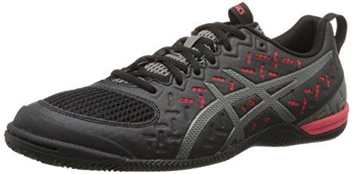 Zapato de entrenamiento Gel-Fortius TR 2 para hombre, Negro / Gunmetal / Fiery Red, 7.5 M US