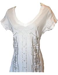 Ladies Guayabera T Shirt Cotton Made in USA