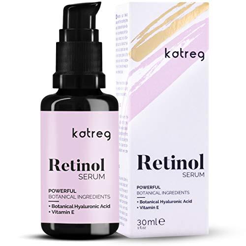 🥇 KATREG PREMIUM Serum facial de retinol con ácido hialurónico y vitamina E