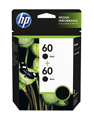 HP 60 Black Original Ink Cartridge (CC640WN), 2 Cartridges (CZ071FN)