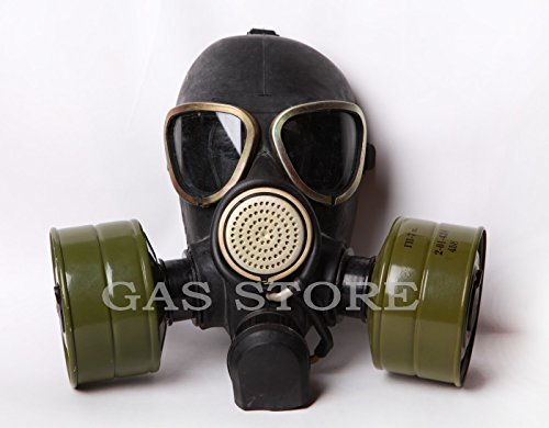 Soviet Halloween Costumes (Halloween Post-apocalyptic Design Russian Army Black Gas Mask With Hose. S.T.A.L.K.E.R Military Style. (3 - Large (49,6