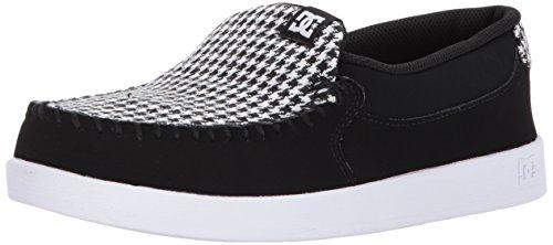 DC Women's Villain SE Slip Skate Shoe, Black/White/Black, 8 B B US