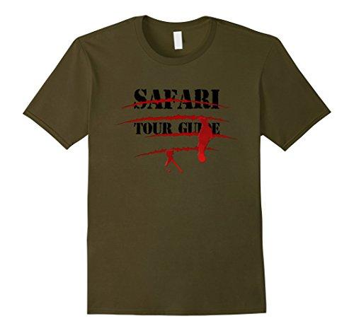 Mens Safari Tour Guide Bloody Animal Attack Halloween Shirt Medium (Male Tour Guide Costume)