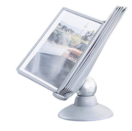Durable Sherpa Motion Display Unit Rotating with 10 Panels 10 Tabs Titanium Ref 5587/37