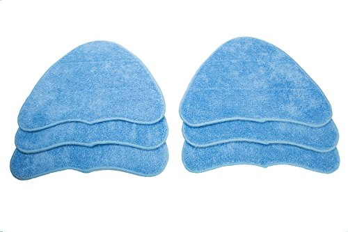 LTWHOME Microfibre Cleaning Pads Fit For Vax S2 Series and Hoover WH20200 Steam Mop,Compare to Hoover Part No. WH01000 (Pack of 6)
