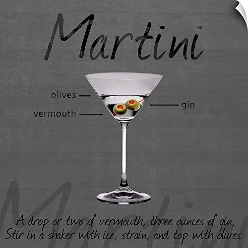 CANVAS ON DEMAND Martini Wall Peel Art Print, 20