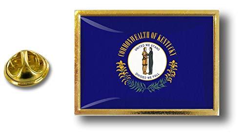 Badge a Pin Uniti farfalla Stati clip d'America Kentucky Stati Uniti metallo con Pin Akacha in Perno EAH8q8