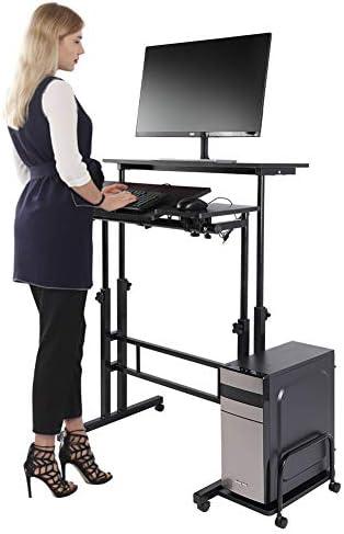 Rolling Table Computer Desk Standing Desk