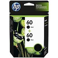 HP 60 Black Original Ink Cartridges, 2 pack (CZ071FN)