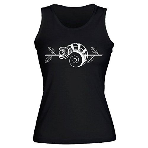 Awesome Chameleon Sitting On Branch Womens Pour des Fommes Tank Top Shirt