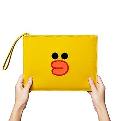 Line Friends Clutch - Character Faux Leather Wallet Handbag Purse, Parent