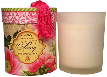 Michel Peony Soy Wax Candle 6 oz. (Michel Wax Candle)