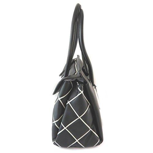 """Fiorelli [N9141] - Sac créateur """"Fiorelli"""" noir blanc (3 compartiments) - 37x23x14 cm"""