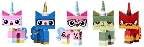 LEGO Movie Unikitty Collection (Set of 5) - Unikitty, Biznis, Queasy, Astro and Angry Kitty Set (70814 Lego Movie)