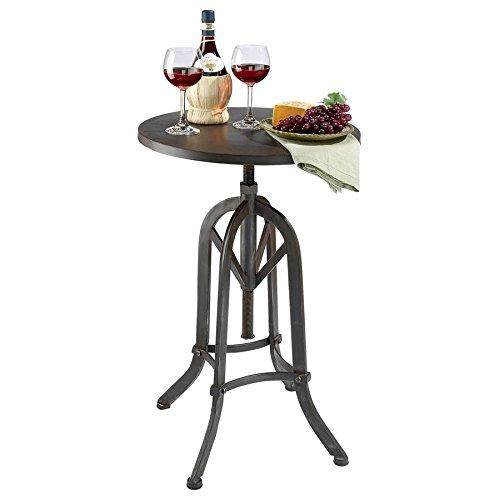 Cheap Design Toscano Industrial Revolution Adjustable Height Side Table, Black