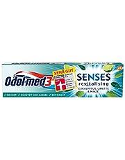 Odol-med3 SENSES revitaliserende eucalyptus, limoen & mint tandpasta, 1 st.