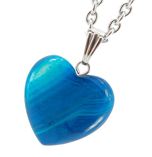 Big Heart Collection - 20mm Classic Agate Blue - 20