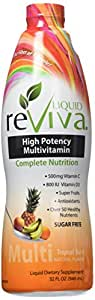 LIQUID reViva Multivitamin Twin Pack 2 X 32 Ounce Tropical Burst Total 2 Botle