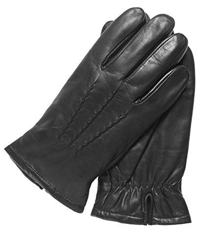Pratt and Hart Men's Lambskin Winter Leather Gloves with Thinsulate Lining Size XXL Color Black