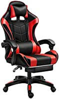 ゲーミングチェア ゲーム用チェア WHESWELL パソコンチェア 快適 リクライニング イス チェア デスクチェア 事務椅子 PUレザー レッド 耐久 ランバーサポート 高さ調整機能 (標準版)