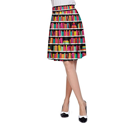 Library Book Case A-Line Skirt cheap - jarabacoateve.com