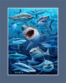 Artgame - Sharks - 3D Mini Posters from Artgame
