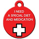 "Medical Alert Dog Cat Pet ID Tag - ""I Need A Special Diet And Medication"" - Perso..."