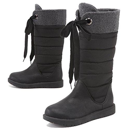 スノーブーツ 防寒ブーツ レディース 防水 防寒 滑らない 履きやすい ふわふわ(S(22.5cm~23.0cm),ブラック)