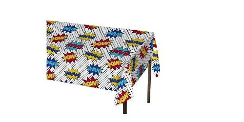 Spritz Superhero Comics Plastic Tablecover (Superhero Decorations)