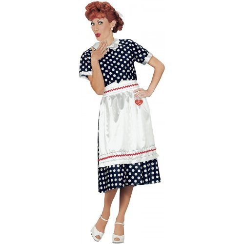 Smart Living Company Women's Classic Polka Dot Dress (i Love Lucy), Multi, Large