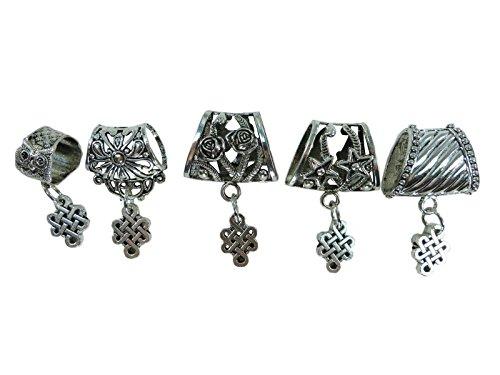 5 sets of Celtic scarf pendant bail slide set