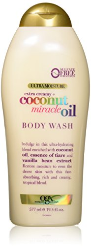 OGX Extra Creamy + Coconut Miracle Oil Ultra Moisture Body Wash, 19.5 (Avalon Coconut)